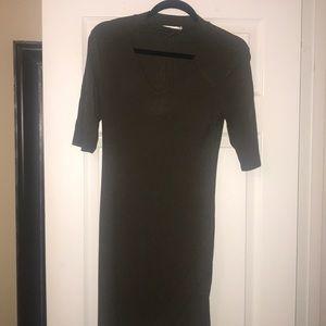 Dresses & Skirts - Olive green choker dress